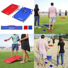 GoSports Portable PVC Framed Cornhole Toss Game Set with 8 Bean Bags and...