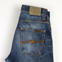 Nudie Jeans Herren Slim Jim Gerades Bein Slim Jeans Größe W30 L34 ASZ512