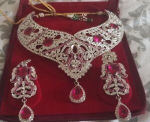 Indian Jewellery Set- Hot Pink