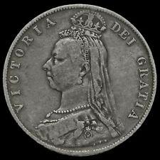 1892 Queen Victoria Jubilee Head Silver Half Crown, Scarce, GF #2