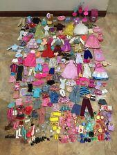 Huge Barbie Doll Clothes Accessories Shoes Lot Dresses Ken Furniture
