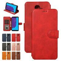 Elegant Flip Stand Leather Card Wallet Case Cover For Samsung Galaxy J4 J6 J8 J7