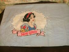 1 Yd Vintage Disney Quilt Fabric Novelty Snow White Dopey Squares on Blue