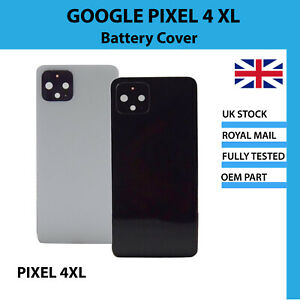 Replacement Battery Cover Camera Lens Adhesive Black White Google Pixel 4 XL UK