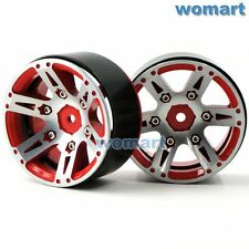 2pcs RC 1.9'' Beadlock Wheels rims Metal For 1/10 RC 4WD Axial 1.9 Crawler Tires