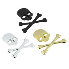 3D Metal Skeleton Skull Bone Auto Car Motor Logo Emblem Badge Sticker Decal Hot
