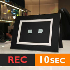 10s PHOTO FRAME CARD (BLACK) RECORD chip sound music voice talk greeting talking