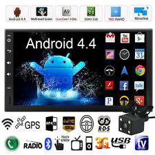 """Quad Core Android 3G WIFI 7"""" 2DIN Car Radio Stereo MP5 Player GPS Nav BT+ Camera"""