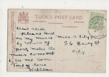Dalkey 21 Mar 1910 Skeleton Postmark 281b