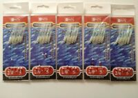 5 Packets Of Lumi Shrimp  feather hock eye feathers for mackeral bass lures