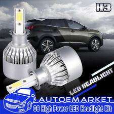 2xH3 LED Headlight Kit Fog lights Bulb 6500K White 300W 45000LM Xenon Hi/Low C9