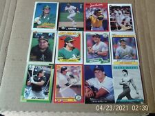 Lot of 90 vintage baseball cards All different players, years. All pictured