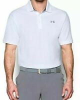 Under Armour HeatGear Men's Performance Polo Short Sleeve Button Up Shirt Size M