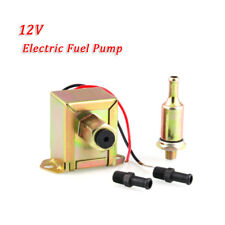 12V Fuel Pump + 2x Fuel Unions + In-Line Fuel Filter Petrol & Diesel OEM
