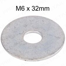 10x M6 32mm Repair Penny Washers Fittings Mudguard Strong Steel Machinery Zinc