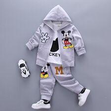 Ropa de bebé niño 3 Piezas Mickey Conjunto Traje Chándal (Top + Chaqueta + pantalones) 18-24 M UK