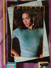Whitney Houston_RARE 80s PROMO POSTER_ships from AUSTRALIA!_21b