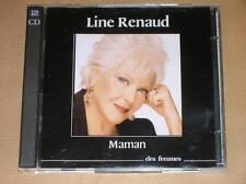 "2 CD / AUDIO LIVRE / LINE RENAUD LIT ""MAMAN"" / TRES BON ETAT"