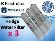 3 x GENUINE WESTINGHOUSE ELECTROLUX REFRIGERATOR WATER FILTER PART # 1450970