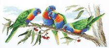 Colourful Lorikeets - Cross Stitch Chart by Country Threads