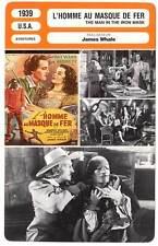 FICHE CINEMA : L'HOMME AU MASQUE DE FER - Hayward 1939 The Man In The Iron Mask