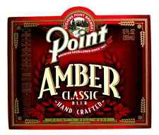 Stevens Point AMBER CLASSIC BEER label WI 12 oz