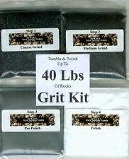 Rock Tumbler SiC Grit Kit Polishes 40 Lbs of Rocks !Best on eBay!! NEW!!
