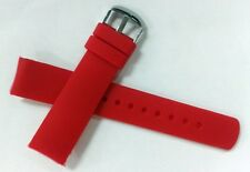 22mm NST BFC Diver Style Two Replacement Red Silicone Bands Fit Nautica Watch