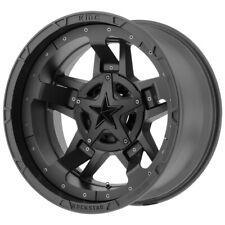 """5-XD827 Rockstar 3 17x9 5x4.5""""/5x5"""" -12mm Matte Black Wheels Rims 17"""" Inch JK JL"""