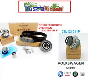 Kit distribuzione originale VW AUDI + pompa acqua kit 03L198119F + 03L121011P