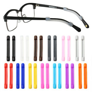 10 Pairs Anti-Slip Glasses Temple Hook Ear Grip Silicone Retainer Eyeglass Leg