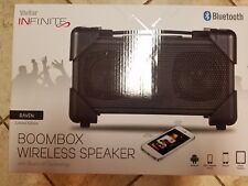 Vivitar Infinite Bluetooth Boombox Wireless Speaker,V143BT-BLK-KM  RAVEN