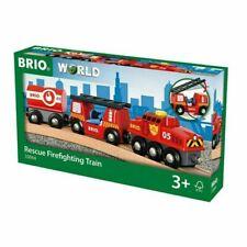 BRIO - RESCUE FIREFIGHTING TRAIN (4 PIECES) - BRIO