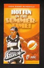 Latoya Thomas--2004 San Antonio Silver Stars Pocket Schedule--WNBA