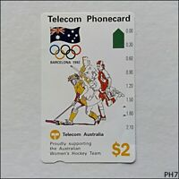 Telecom Barcelona Olympics 1992 Women's Hockey N91041-1 117 $2 Phonecard (PH7)