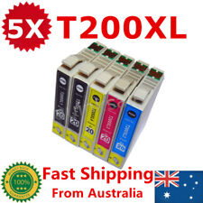 5x T200XL 200 xl Ink Cartridge For Epson xp200 xp400 xp100 wf2530 wf2540 2510