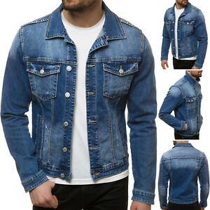 Jeansjacke Denim Vintage Klassiker Übergangsjacke Jeans Sweatshirt OZONEE Herren
