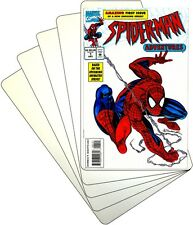 """(30) Comic Book Bin Index Divider Cards - Sloped 7""""x11"""" - White Eco 20mil Thick"""