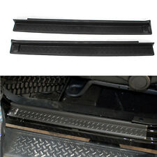 Black 2 Doors Door Sill Entry Guards Scuff Plate Kit For Wrangler 2007-2015 Car