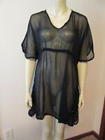 Mud Pie Black Sheer Butterfly Tunic Swimsuit Cover-Up, Size Small/Med., NWT
