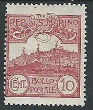 1903 SAN MARINO VEDUTA 10 CENT MH * - M23-3