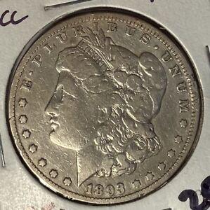 1893-CC MORGAN SILVER DOLLAR NICE FINE F — CARSON CITY — NO RESERVE!!