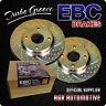 EBC TURBO GROOVE REAR DISCS GD1393 FOR AUDI A6 2.0 TD 140 BHP 2004-11