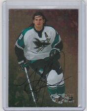 98-99 1998-99 BE A PLAYER MIKE RICCI GOLD AUTO AUTOGRAPH 270 SAN JOSE SHARKS