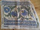 Vintage Ehrmann Peacock Floral Tile Completed Wool Tapestry Deborah Kemball