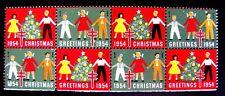 CHRISTMAS SEALS, 1954 CHRISTMAS GREETINGS (SEE ITEM DESCRIPTION)
