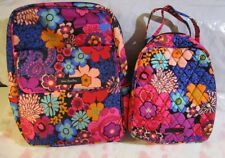 VERA BRADLEY Lighten Up Backpack Lunch Bunch Bag Set School FLORAL FIESTA
