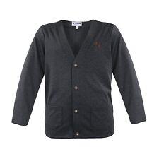 Trachten-Strickjacke Herren Cardigan Weste Jacke Sweater Hoodie Grau Langarm Neu
