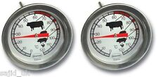 2x Brannan Dial Chicken Meat Beef Turkey Roasting Cooking Kitchen Thermometer