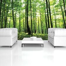Vlies Fototapete XXL Grüner Wald Natur Bäume Wohnzimmer Tapete Wandtapete